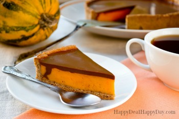 Homemade Pumpkin Pie Recipe with Chocolate Ganache Topping