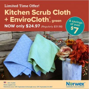 Norwex 2 Day Flash Sale:  Get An Envirocloth & Kitchen Scrub Cloth for $24.97 – Normally $31.97!