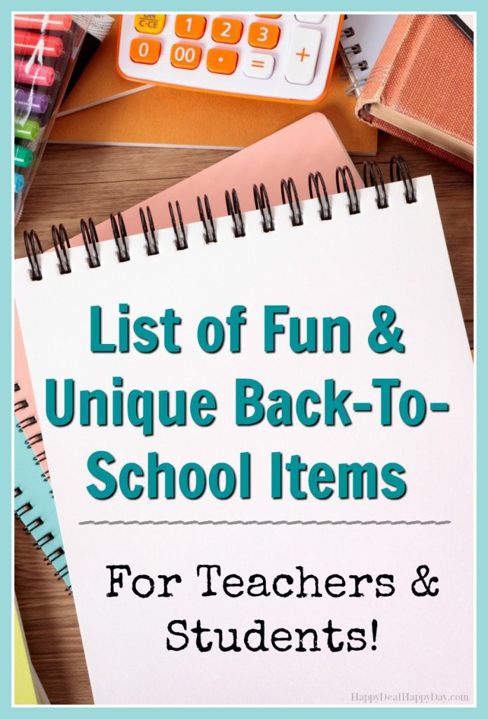 List of fun & unique back-to-school items