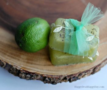 Easy Melt & Pour Soap Recipes: Lime and Cedarwood Soap with Chia Seeds