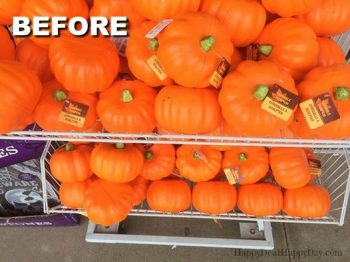 Dollar Store Pumpkin Makeovers – DIY Glitter Pumpkins Three Ways!