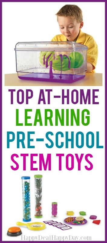 top at-home learning pre-school STEM toys!