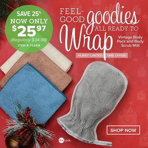 Norwex 2 Day Flash Sale:  Get Vintage Body Pack and Body Scrub Mitt for $25.97 – Normally $34.98!