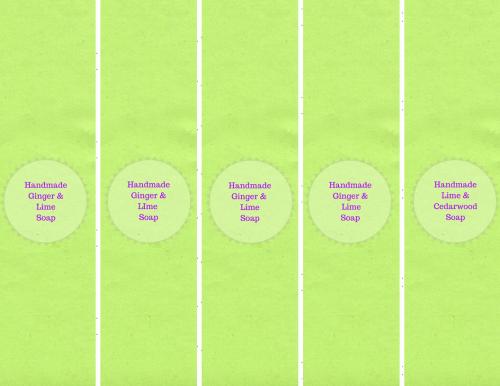 Easy Melt & Pour Soap Recipes free printable soap labels