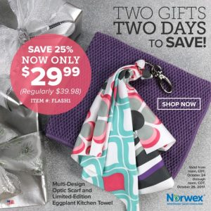 Norwex 2 Day Flash Sale:  Get Limited Edition Eggplant Kitchen Towel & Optic Scarf for $29.99 – Normally $39.98!
