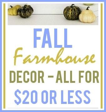 Fall Farmhouse Decor Ideas For Under $20