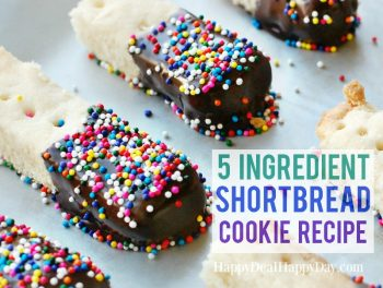 5 Ingredient Easy Shortbread Cookie Recipe