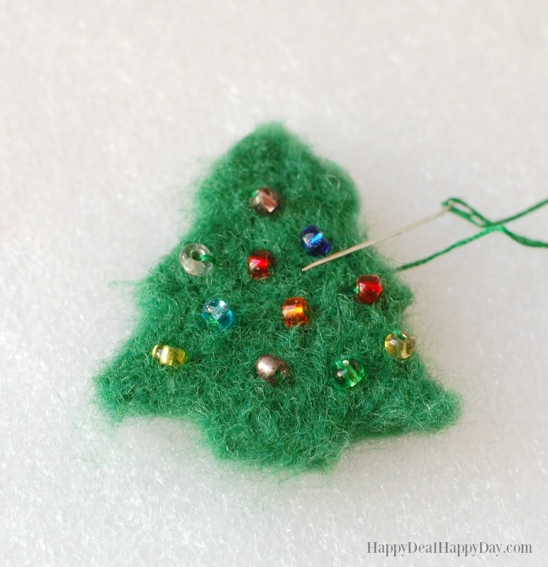 DIY essential oil diffuser ornament - sew on ornament beads