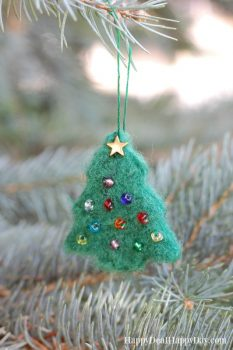 Needle Felted Essential Oil Diffuser Ornament