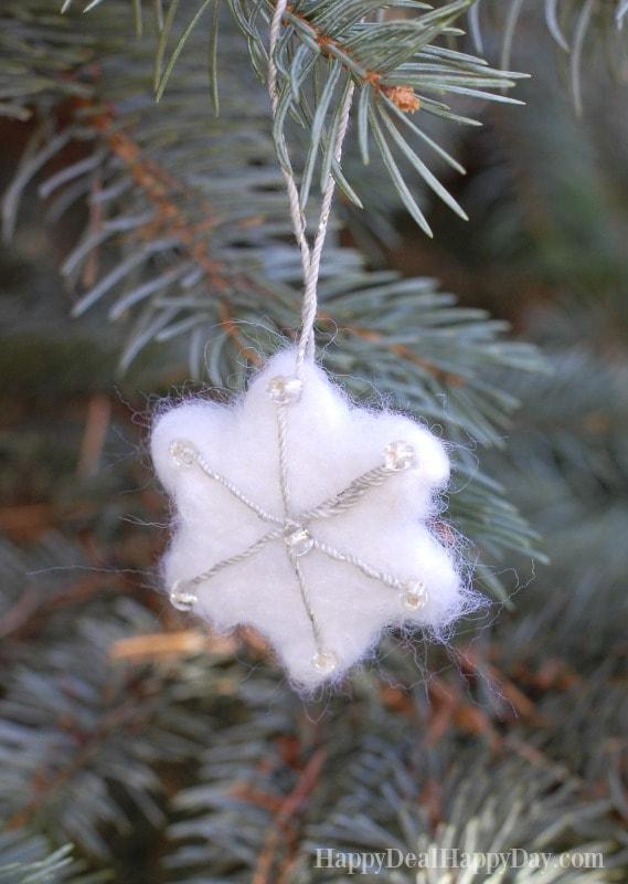 DIY essential oil diffuser ornament snowflake