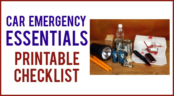 Car Emergency Essentials – Printable List of What To Have In Your Trunk In Case Of Emergency