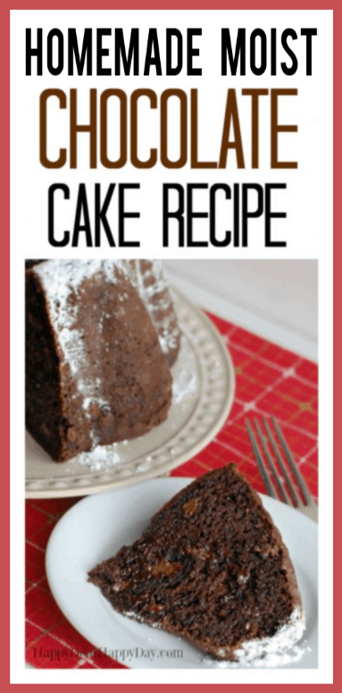 Homemade Moist Chocolate Cake Recipe with Pudding