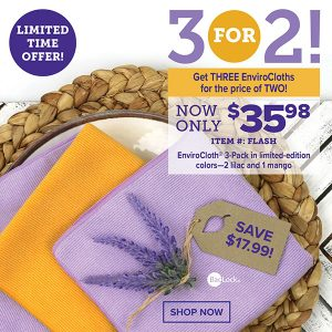 Norwex 2 Day Flash Sale:  Get 3 Envirocloths For the Price of 2 – Save $17.99!