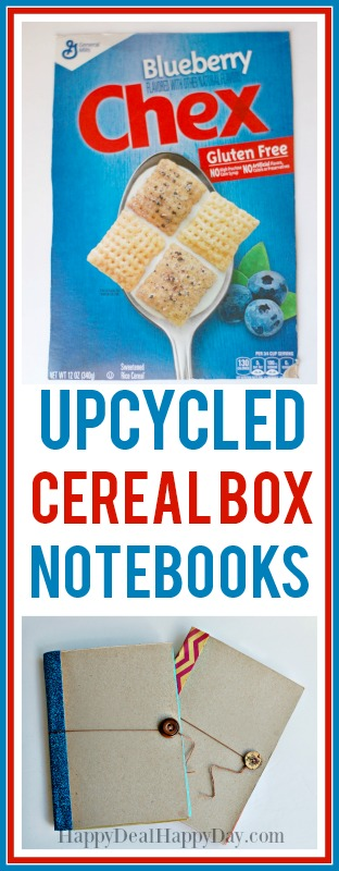 upcycled ceral box notebooks