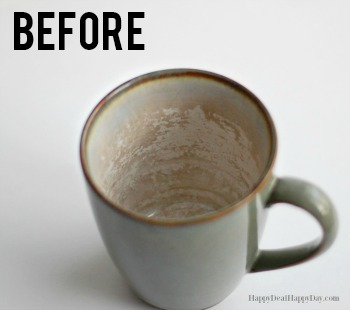 How to Easily Clean Stained Mugs and Scruffed Plates!
