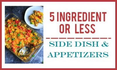 30+ Different 5 Ingredient or Less Appetizer & Side Dish Recipes