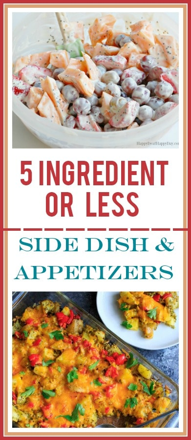 5 ingredient or less recipes