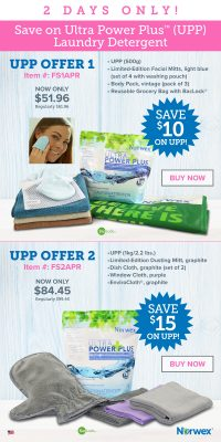 Norwex 2 Day Flash Sale:  Save $10 or $15 on UPP!