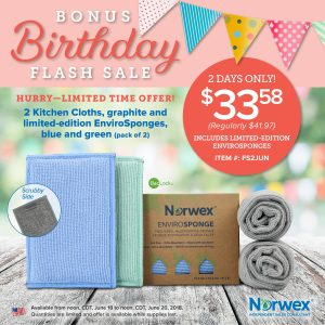 Norwex 2 Day Flash Sale:  20% off Sponges & Kitchen Cloths!