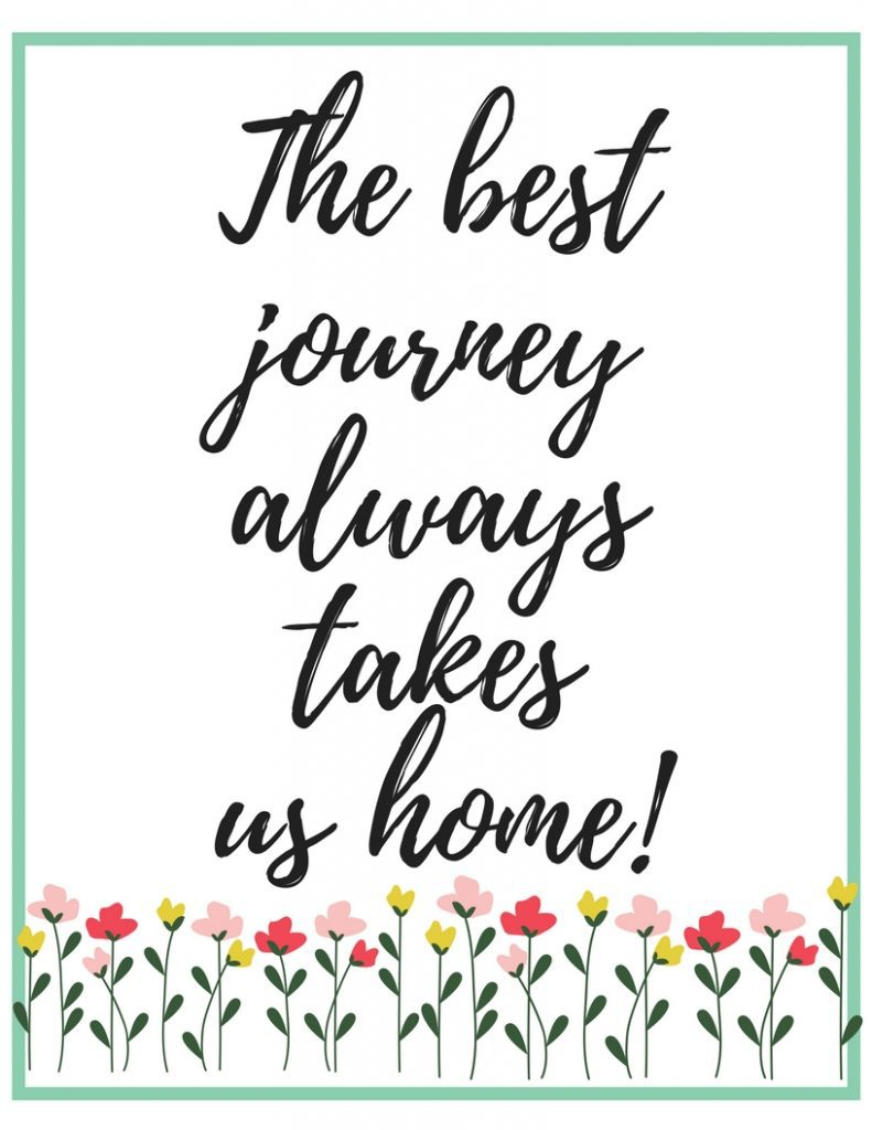 Free printable wall art for your home - 4 styles to choose from!  Download, print, and frame right from home!!  #freeprintable #wallart #freeprintablewallart #loveliveshere  #home #journey