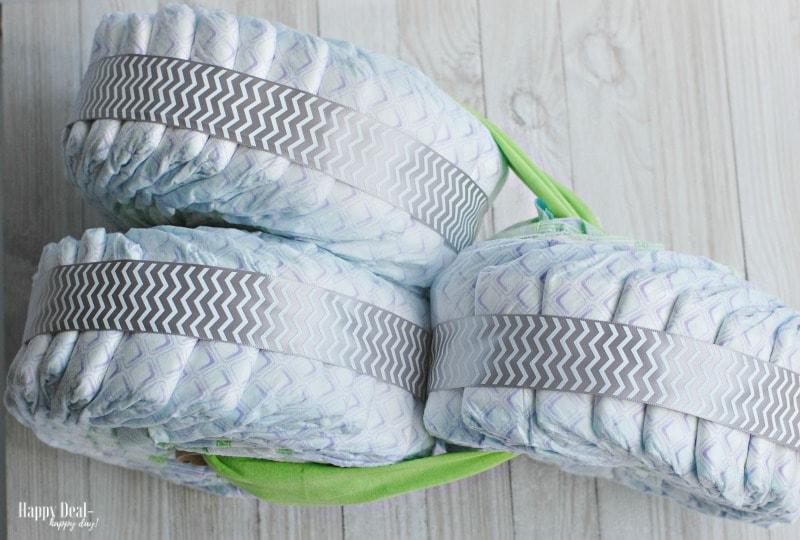 DIY Diaper Tricycle Tutorial diaper tricycle birds eye view