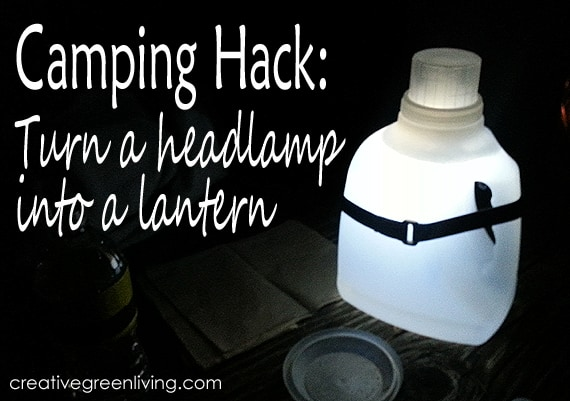 camping hack turn a headlamp into a lantern