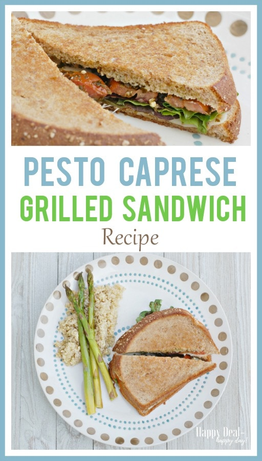 Pesto Caprese Grilled Sandwich Recipe