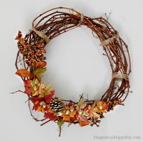 decorate for fall on a budget