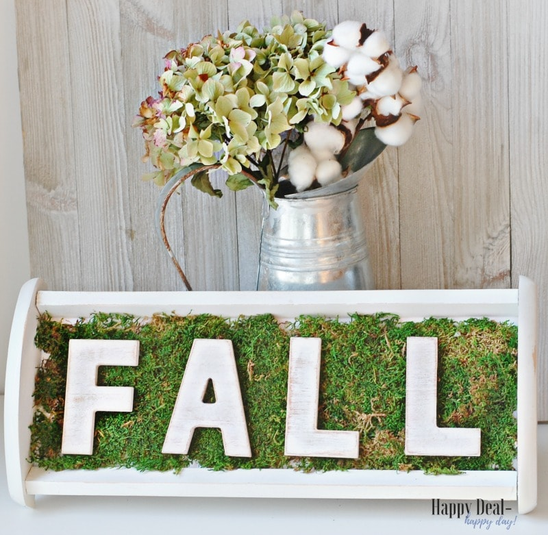 Thrift Store Makeover - CD Holder Repurposed Into Fall Decor