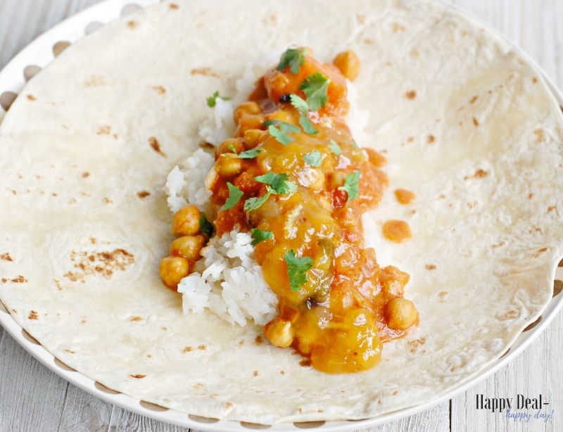 Easy Indian Chickpea Curry with Mango Chutney