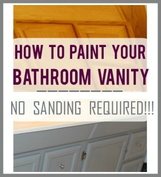 How To Paint Your Bathroom Vanity – No Sanding Required!