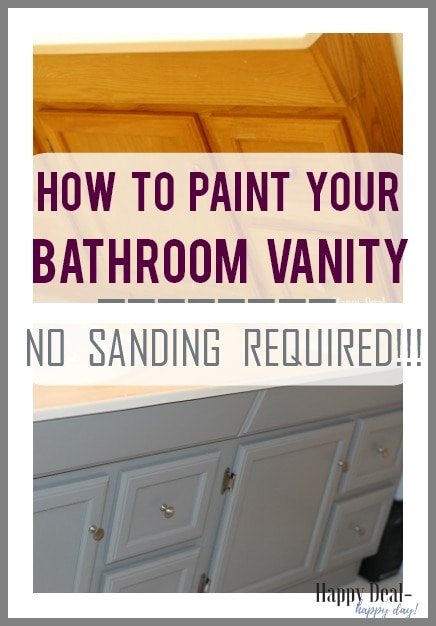 how to paint your bathroom vanity - no sanding required!