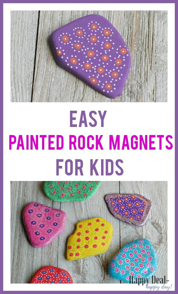 Easy Painted Rock Magnets for Kids