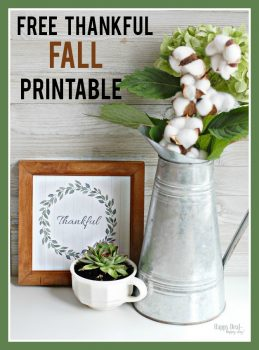"Free Printable Wall Art For Your Home – ""Thankful"" Fall Printable"