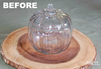 Glass Pumpkin Thrift Store Makeover Decor | Frugal Fall Decor