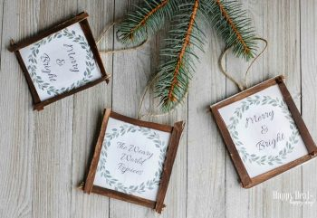Free Printable DIY Rustic Christmas Ornaments!
