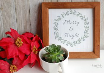 "Free Printable Christmas Wall Art For Your Home – ""Merry and Bright"" Christmas Printable"