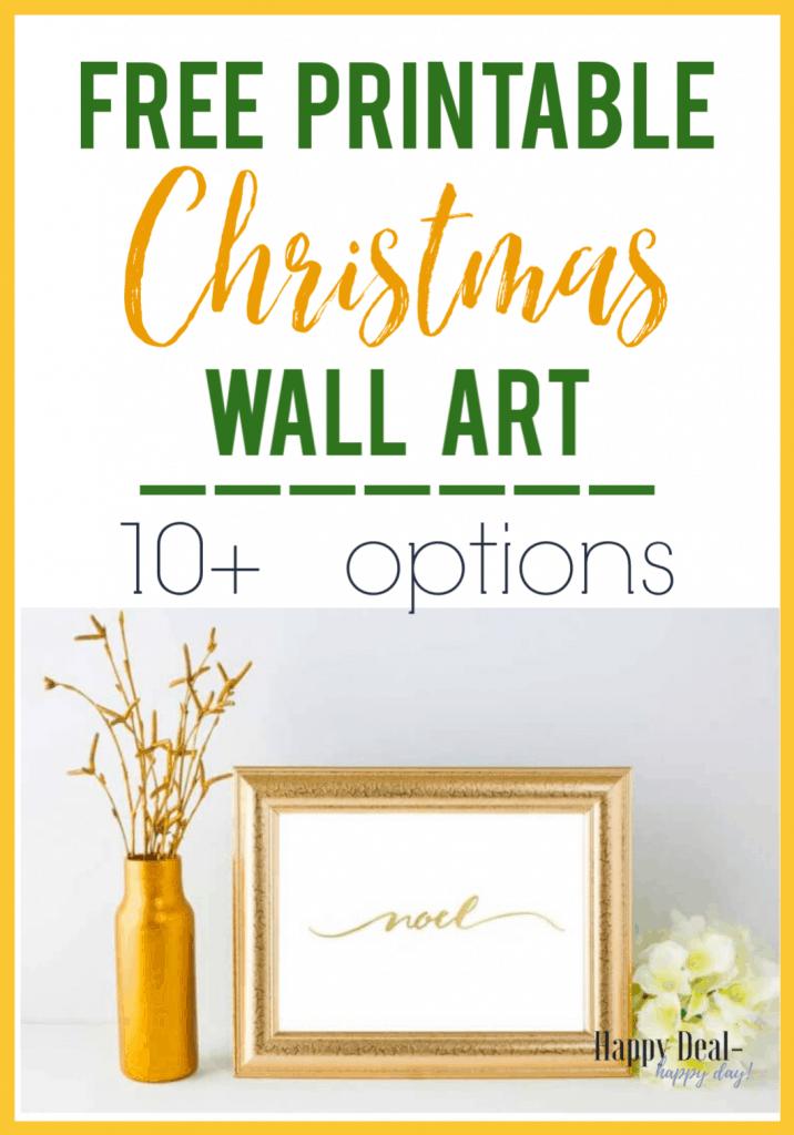 Free Printable Christmas Wall Art 10 Options Happy Deal