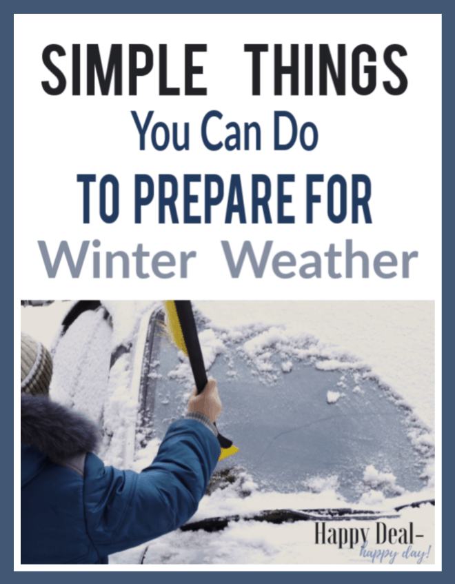 Simple Things You Can Do To Prepare for Winter Weather Conditions  #winter #winterprep #winterweather #emergencypreparedness  #emergencyprep #preparedness