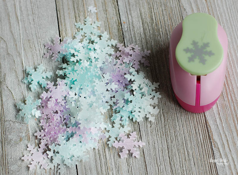 How to Make Confetti That Dissolves In Your Bath snowflake paper punch