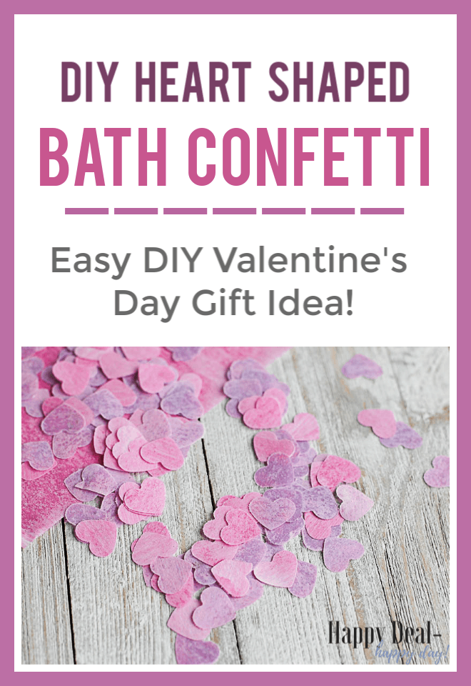 Heart Shaped DIY Bath Confetti with Essential Oils