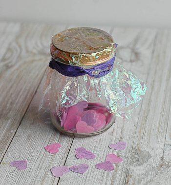 Heart Shaped DIY Bath Confetti with Essential Oils – Easy DIY Valentine's Day Gift Idea!