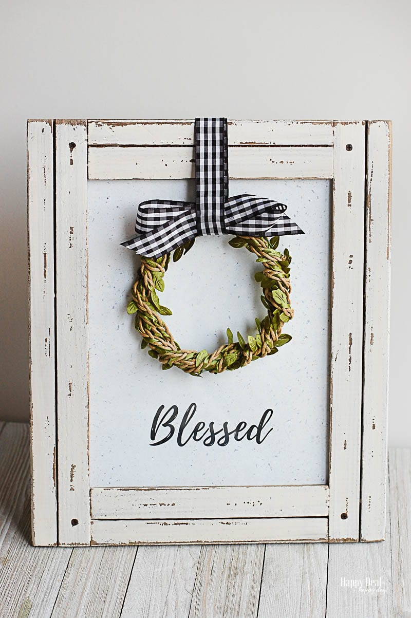 "Free Printable Wall Art - ""Blessed"""
