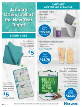Norwex:  What's on Sale in January!