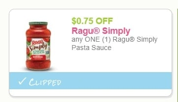 Ragu Simply Pasta Sauce for Just $0.39 at Wegmans!