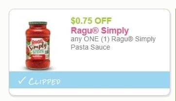 Ragu Simply Pasta Sauce for Just $0.39 at Wegmans!