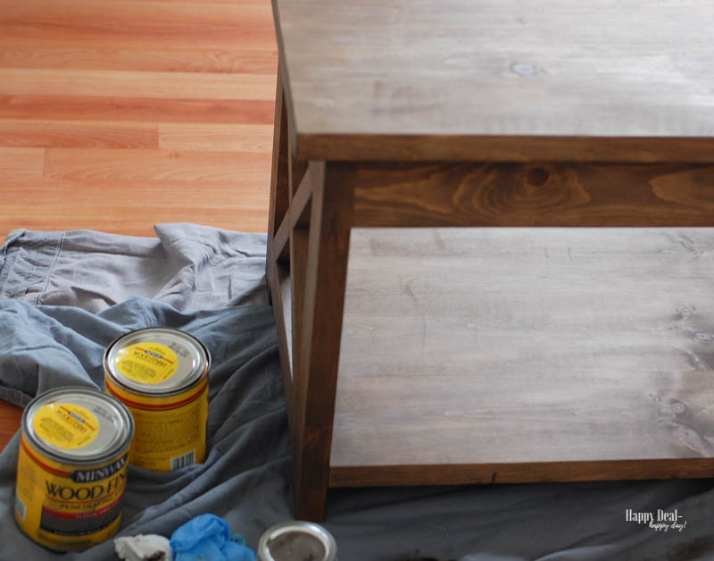 Staining Wood DIY - after one coat of stain