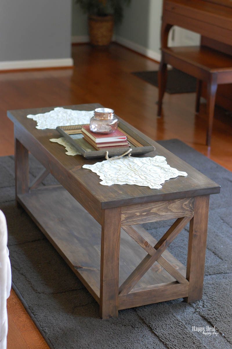 """Staining Wood DIY - coffee table """"after"""" staining"""