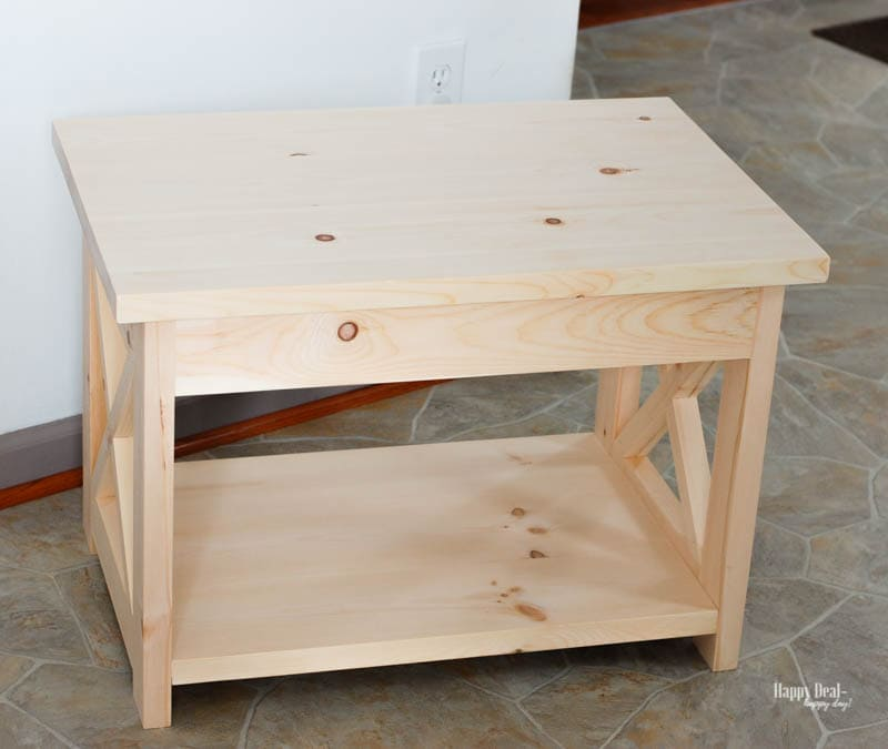 How To Stain Wood: Tips for Beginners - end table before staining