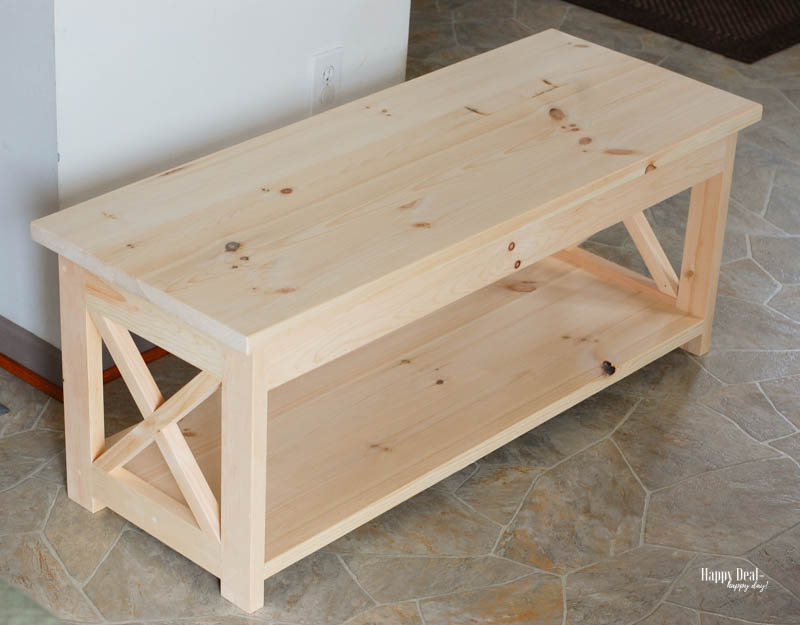 How To Stain Wood: Tips for Beginners - coffee table before staining